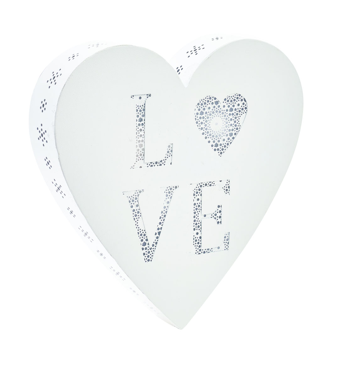 Декоративное настенное украшение Gardman Love Heart, с LED подсветкой, 25,5 x 5 х 25,5 см300194_сиреневый/грушаДекоративное настенное украшение Gardman Love Heart изготовлено из металла. Для удобства размещения изделие оснащено отверстиями для подвешивания. LED подсветка придаст неповторимый дизайн вашему интерьеру. Работает от 2 батареек типа AA (входят в комплект). Имеет встроенный таймер, с возможностью программирования на 6 и 18 часов.