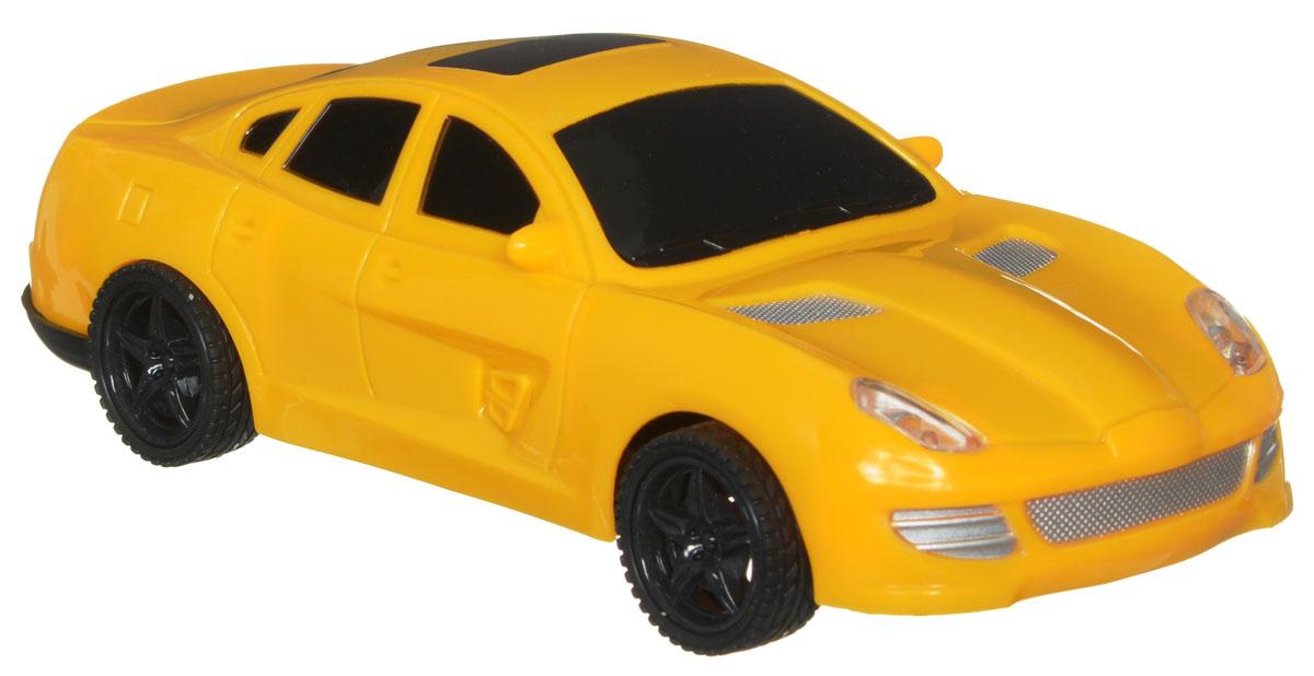 """Машина на радиоуправлении Plastic Toy """"Game Car"""" обязательно привлечет внимание вашего ребенка. Машинка с ярким динамичным дизайном обладает легким, но прочным каркасом из высококачественного пластика. Управление автомобилем осуществляется с помощью пульта управления. Пульт управления работает на частоте 27 MHz. Машинка может двигаться вперед, дает задний ход, поворачивает влево и вправо, останавливается. Имеются световые эффекты. Вашему ребенку будет интересно играть с моделью, придумывая различные истории и устраивая соревнования. Порадуйте его таким замечательным подарком! Машина работает от 3 батареек напряжением 1,5V типа АА (не входят в комплект). Пульт управления работает от 2 батареек напряжением 1,5V типа АА (не входят в комплект)."""
