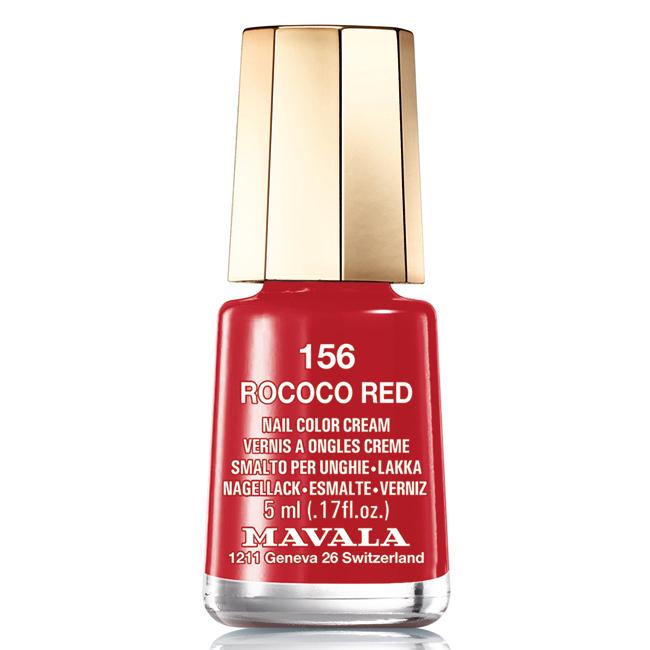 Mavala Лак для ногтей Чувственный красный Rococo Red , Тон 156, 5 млSC-FM20104Лаки для ногтей Mavala представлены классическими и ультрамодными оттенками. Они пропускают воздух даже через 3-4 слоя, давая возможность ногтям дышать. Специально разработанный состав лаков позволяет им оставаться свежими и насыщенными долгое время. Лаки не содержат толуол, формальдегид, камфору, дибутил фталат, канифоль и добавленный никель.