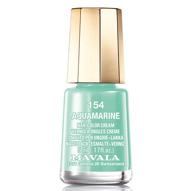 Mavala Лак для ногтей Аквамарин Aquamarine, Тон 154, 5 мл28032022Лаки для ногтей Mavala представлены классическими и ультрамодными оттенками. Они пропускают воздух даже через 3-4 слоя, давая возможность ногтям дышать. Специально разработанный состав лаков позволяет им оставаться свежими и насыщенными долгое время. Лаки не содержат толуол, формальдегид, камфору, дибутил фталат, канифоль и добавленный никель.