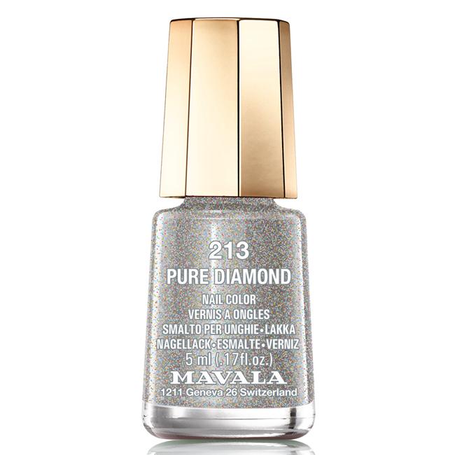 Mavala Лак для ногтей Чистый бриллиант Pure Diamond, Тон 213, 5 мл5010777142037Лаки для ногтей Mavala представлены классическими и ультрамодными оттенками. Они пропускают воздух даже через 3-4 слоя, давая возможность ногтям дышать. Специально разработанный состав лаков позволяет им оставаться свежими и насыщенными долгое время. Лаки не содержат толуол, формальдегид, камфору, дибутил фталат, канифоль и добавленный никель.