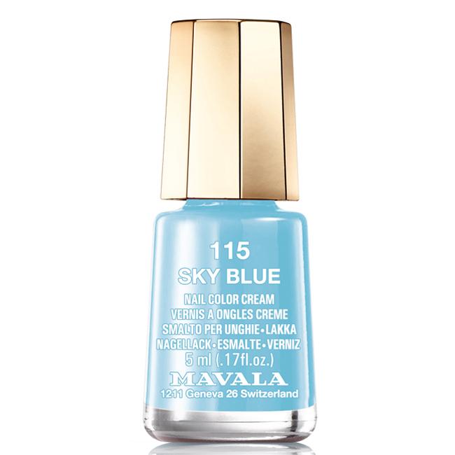 Mavala Лак для ногтей Ясное небо/Sky Blue , Тон 115, 5 младаптер WN-114 adult/chilЛаки для ногтей Mavala представлены классическими и ультрамодными оттенками. Они пропускают воздух даже через 3-4 слоя, давая возможность ногтям дышать. Специально разработанный состав лаков позволяет им оставаться свежими и насыщенными долгое время. Лаки не содержат толуол, формальдегид, камфору, дибутил фталат, канифоль и добавленный никель.
