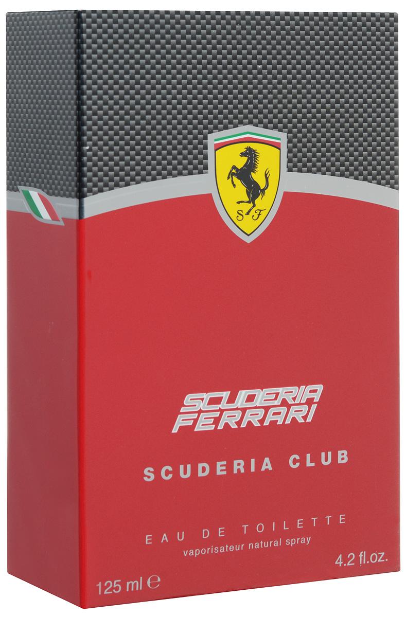 Ferrari Туалетная вода  SCUDERIA CLUB мужская, 125 мл80284338Scuderia Ferrari Scuderia Club Ferrari - это аромат для мужчин, принадлежит к группе ароматов фужерные. Scuderia Ferrari Scuderia Club выпущен в 2013. Верхние ноты: Цитрусы, кардамон, Имбирь, Базилик и перчная мята; ноты сердца: Лаванда, Герань, Розмарин, Белая фрезия, Зеленый чай и мускатный орех; ноты базы: Ветивер, амброксан (ambroxan), Дерево Гуаяк и Тонка бобы.