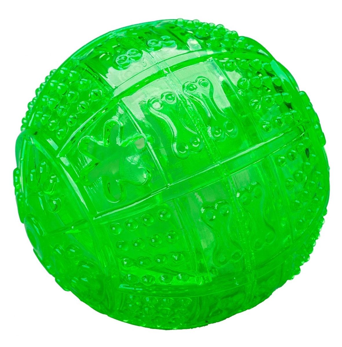 Игрушка для собак Pet Supplies Toby's Choice, цвет: зеленый, диаметр 8,2 см0120710Игрушка для собак Pet Supplies Toby's Choice выполнена из резины в виде мяча. Она надолго займет вашего любимца, избавив его от скуки. Игрушка позволяет равномерно распределить угощение и корм за счет лабиринта внутри, поэтому лакомства достанутся питомцу не так быстро, и это продлит его игру.Диаметр игрушки: 8,2 см.