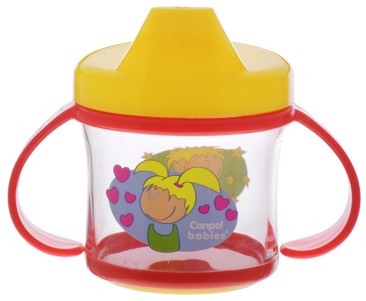 Canpol Babies Поильник-непроливайка от 9 месяцев цвет красный желтый 200 мл -  Поильники