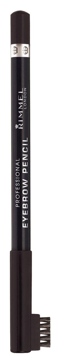 Rimmel Карандаш для бровей С Щеточкой `Professional Eyebrow Pencil` Re-pack 004 тон(brown black),5,2 мл79150Мягкая формула для легкого нанесения. Натуральные оттенки для идеального макияжа бровей. Удобная щеточка-расческа подготавливает брови для использования карандаша, а затем облегчает равномерное распределение цвета.