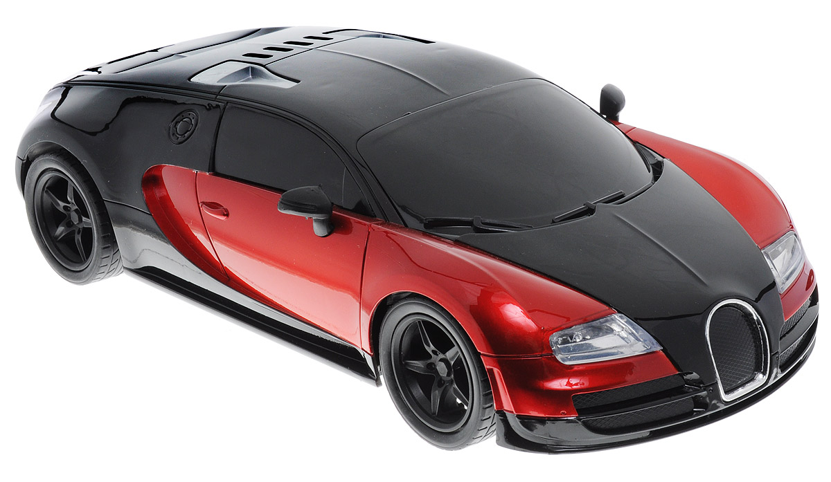 """Машина на радиоуправлении Plastic Toy """"Model Car"""" предназначена для тех, кто любит роскошь и высокие скорости. Корпус автомобиля выполнен из пластика, колеса прорезинены. Управление машинкой происходит с помощью пульта. Машинка двигается вперед и назад, поворачивает направо, налево и останавливается. Имеются световые эффекты. Пульт управления работает на частоте 27 MHz. Колеса игрушки прорезинены и обеспечивают плавный ход, машинка не портит напольное покрытие. Радиоуправляемые игрушки способствуют развитию координации движений, моторики и ловкости. Ваш ребенок часами будет играть с моделью, придумывая различные истории и устраивая соревнования. Порадуйте его таким замечательным подарком! Для работы игрушки необходимы 4 батарейки типа АА (не входят в комплект). Для работы пульта управления необходимы 2 батарейки типа АА (не входят в комплект)."""