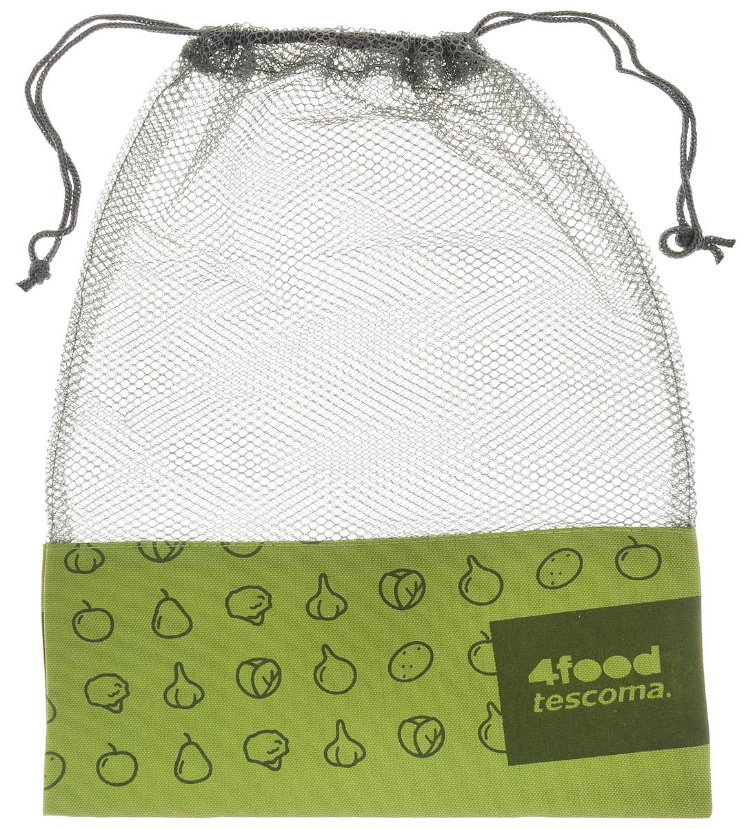 Сетка для хранения продуктов Tescoma 4Food, 38 х 28 см6.295-875.0Вместительная сетка Tescoma 4Food, выполненная из непромокаемых материалов, отлично подойдет для хранения в холодильнике фруктов, овощей, орехов и других продуктов. Сетка способствует вентиляции и предотвратит образование плесени. Изделие закрывается на затягивающийся шнурок.Вместимость - 6 кг.