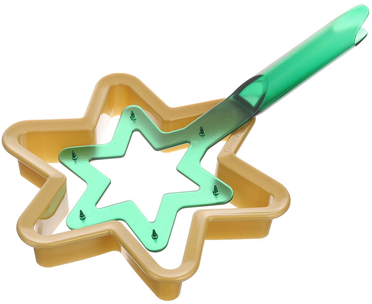 Набор для выпечки пряников Tescoma Рождественская звезда, 2 предмета631414Набор Tescoma Рождественская звезда, выполненный из высококачественного пластика, состоит из формочки для вырезания теста и держателя готовой формы. Такой набор прекрасно подходит для изготовления в домашних условиях пряников и других сладких изделий. Приготовленной выпечкой можно украсить верхушку новогодней елки. Набор Tescoma Рождественская звезда - это прекрасное развлечение для всей семьи при изготовлении оригинальных рождественских декораций.Можно мыть в посудомоечной машине. Размер формы для запекания: 17 х 15 х 3 см.Размер держателя готовой формы: 23 х 9,5 х 2 см.
