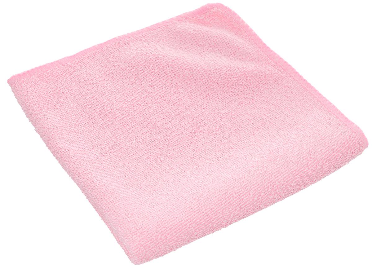 Салфетка из микрофибры для уборки Youll Love, цвет: розовый, 30 х 30 см531-105Салфетка Youll Love, изготовленная из полиэфира 70% и полиамида 30%, предназначена для очищения загрязнений на любых поверхностях. Изделие обладает высокой износоустойчивостью и рассчитано на многократное использование, легко моется в теплой воде с мягкими чистящими средствами. Супервпитывающая салфетка не оставляет разводов и ворсинок, удаляет большинство жирных и маслянистых загрязнений без использования химических средств. Размер салфетки: 30 х 30 см.