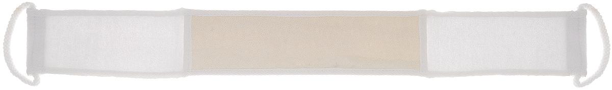 Мочалка Home Queen, из люфы, с ручками, цвет: белый, 90 х 8 смDB050Мочалка Home Queen, изготовленная из люфы, прекрасно очищает и массирует кожу, улучшает циркуляцию крови и обмен веществ. Обладает эффектом скраба - мягко отшелушивает верхний слой эпидермиса, стимулируя рост новых, молодых клеток, делает кожу здоровой и красивой. Изделие оснащено двумя ручками для более удобного использования.Подходит для ежедневного использования.