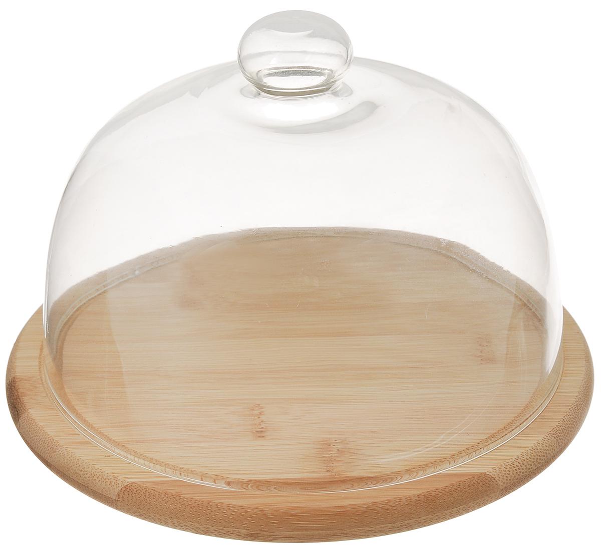 Сырница Mayer & Boch, диаметр 20 см507465Сырница Mayer & Boch состоит из подноса и прозрачной стеклянной крышки. Она предназначена для удобного хранения и красивой сервировки различных сортов сыра, а также других продуктов.Поднос изготовлен из бамбука и имеет специальные выемки, благодаря которым крышка на него легко устанавливается. Он может использоваться как для хранения и сервировки сыра, так и для нарезания продуктов. Сырница Mayer & Boch станет незаменимым помощником на вашей кухне.Диаметр подноса: 20 см.Высота подноса: 1,5 см.Диаметр крышки: 18 см.Высоты крышки: 13 см.