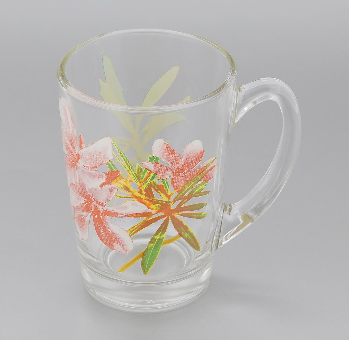 Кружка Luminarc Freesia, 320 мл115510Кружка Luminarc Freesia, изготовленная из упрочненного стекла, оформлена красочным изображением цветов. Такая кружка прекрасно подойдет для горячих и холодных напитков. Она дополнит коллекцию вашей кухонной посуды и будет служить долгие годы. Диаметр кружки (по верхнему краю): 7,8 см.