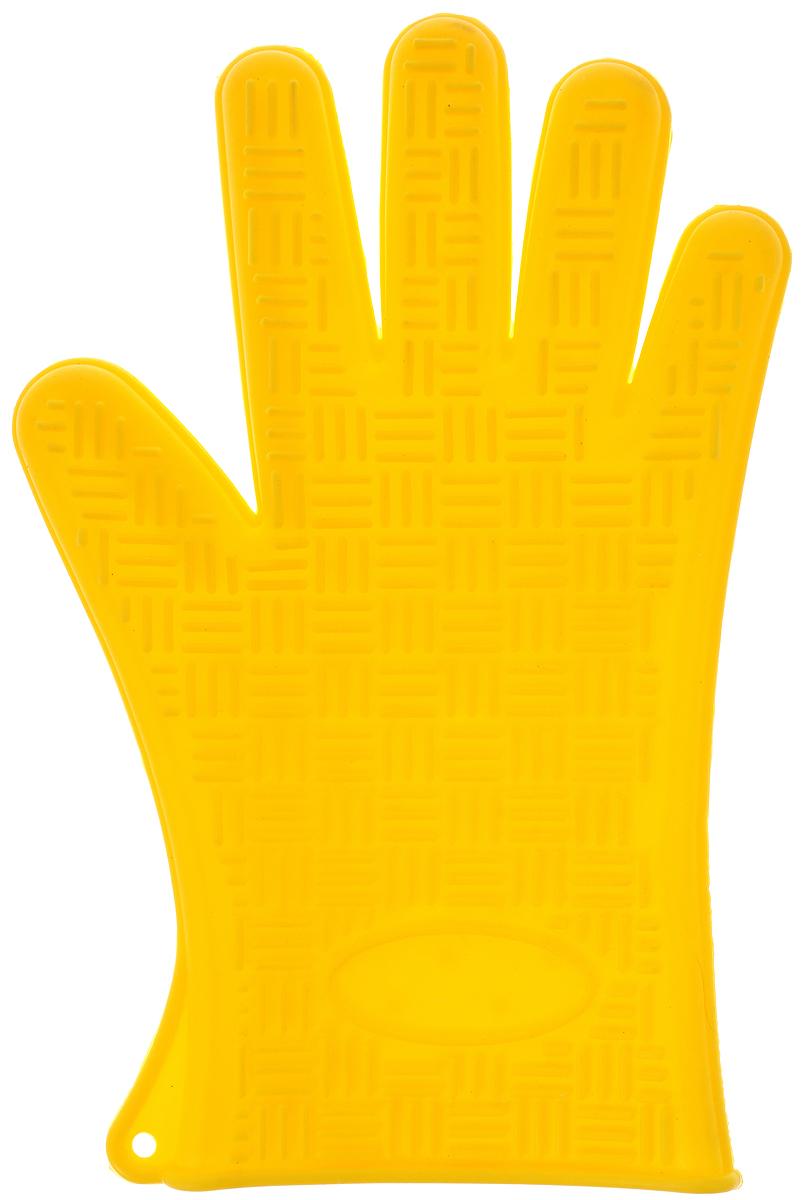 Прихватка-перчатка Mayer & Boch, силиконовая, цвет: желтый, 27 х 18 см4427-4Прихватка-перчатка Mayer & Boch изготовлена из прочного цветного силикона. Она способна выдерживатьтемпературу от -40°C до +220°С. Эластична, износостойка, влагонепроницаема, легко моется, удобно и прочно сидит на руке. С помощью такой прихватки ваши руки будут защищены от ожогов, когда вы будете ставить в печь или доставать из нее выпечку.Можно мыть в посудомоечной машине.
