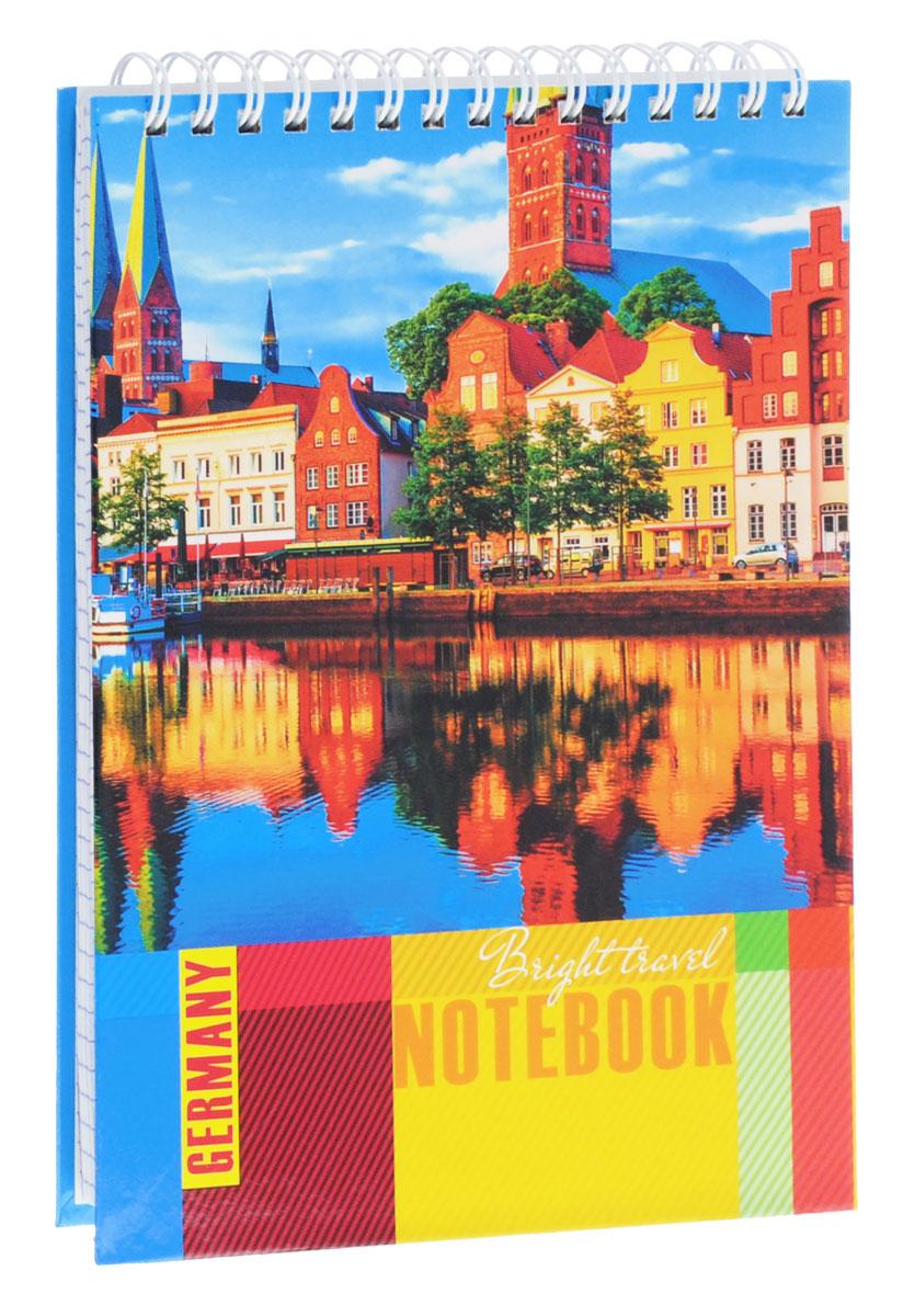 Listoff Тетрадь Яркая Германия 100 листов в клетку05237Тетрадь Listoff Яркая Германия подойдет как школьнику, так и студенту для различных записей.Обложка тетради выполнена из картона и оформлена солнечным пейзажем немецкого города. Внутренний блок состоит из 100 листов белой бумаги. Стандартная линовка в фиолетовую клетку без полей. На такой бумаге вы можете использовать любой тип ручек, не боясь, что бумага промокнет.Листы тетради соединены металлическим гребнем сверху.