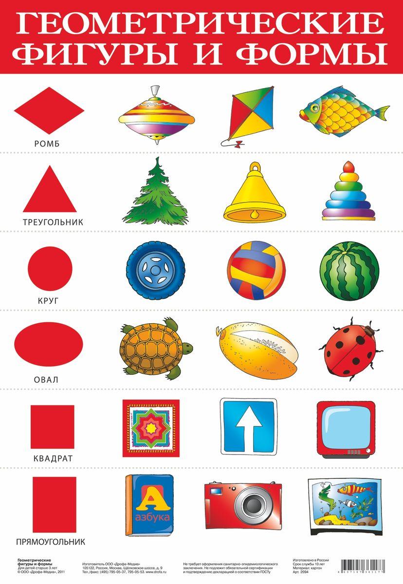 Дрофа-Медиа Обучающий плакат Геометрические фигуры и формы