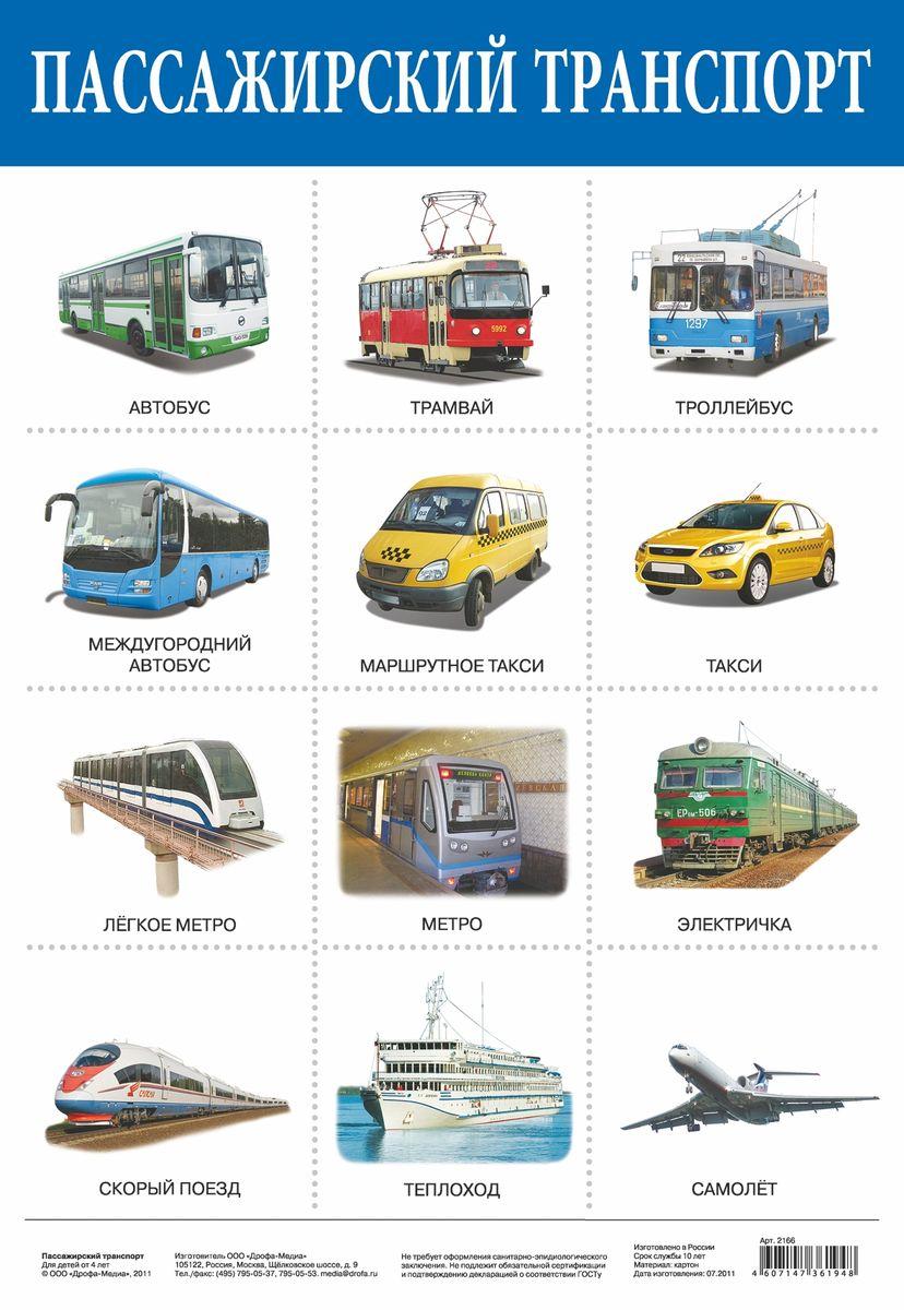 Дрофа-Медиа Обучающий плакат Пассажирский транспорт