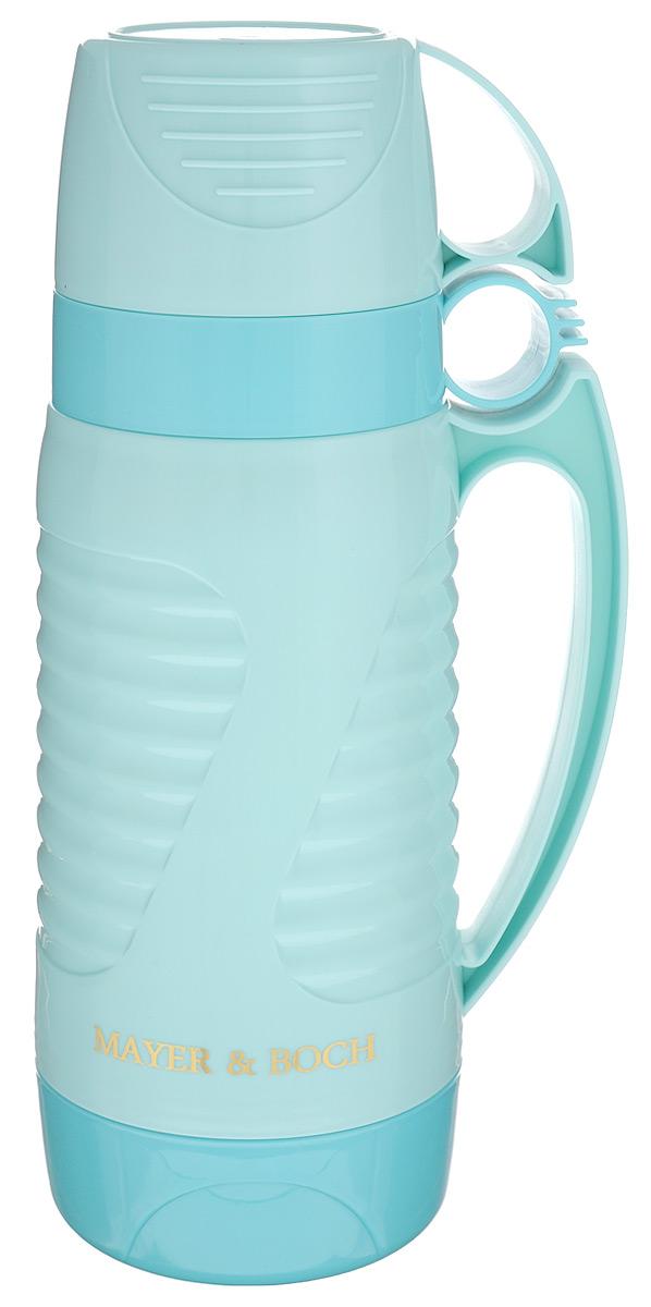 Термос Mayer & Boch, с 2 чашами, цвет: светло-бирюзовый, 1 л. 24910 кружка термос mayer