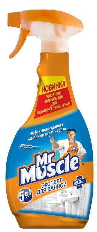 Чистящее и моющее средство для ванной Mr. Muscle Эксперт, 500 мл68/5/1Чистящее и моющее средство Mr. Muscle Эксперт без усилий очищает керамические, пластиковые, хромированные, нержавеющие и стеклянные поверхности. Раковина, ванная, плитка и стеклянные предметы в вашей ванной будут сиять чистотой. Удаляет известковый налет, удаляет ржавчину, убивает микробы, не оставляет разводов, удаляет грязь.Состав: вода, молочная кислота, н-ПАВ, органический растворитель, а-ПАВ, отдушка.Товар сертифицирован.