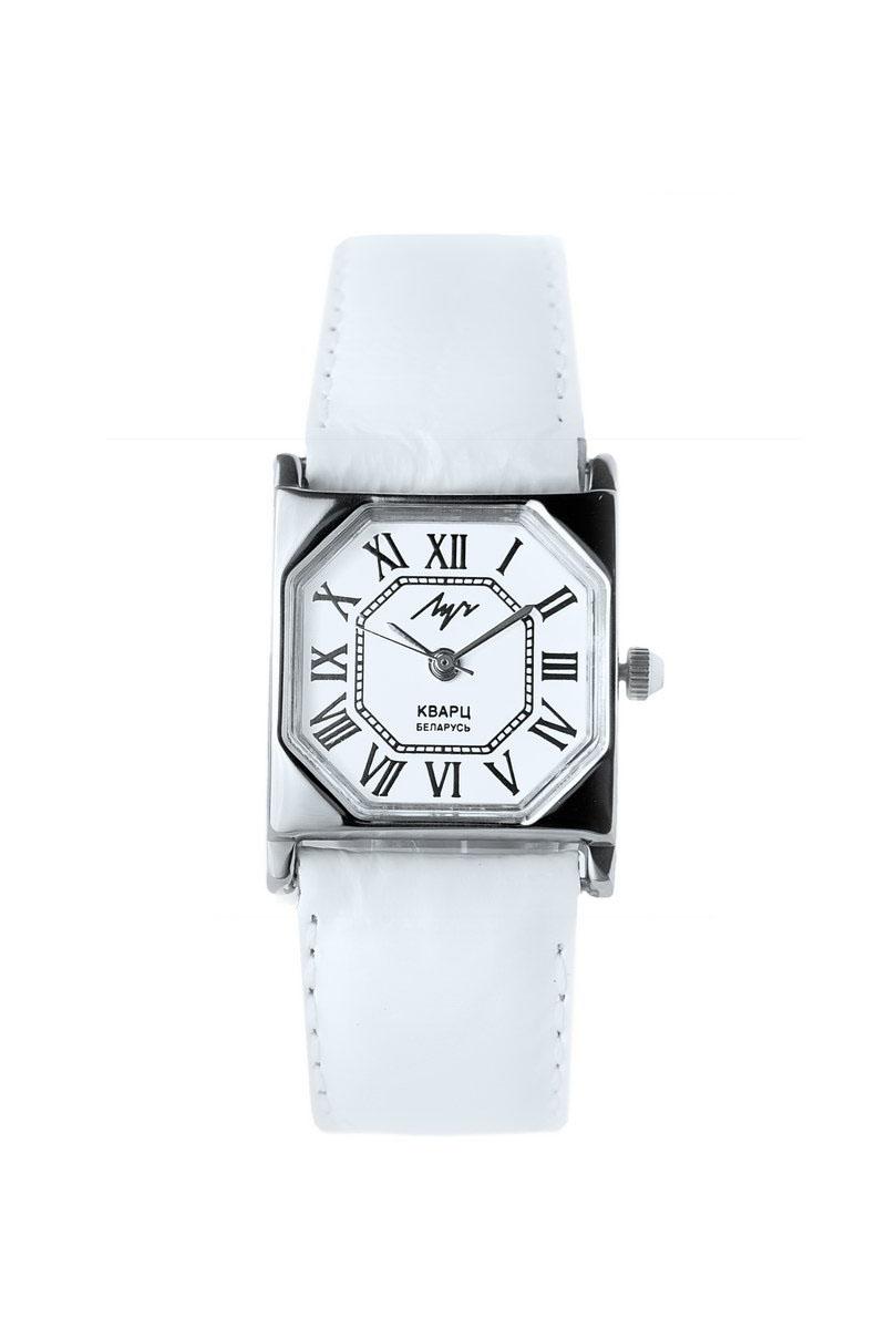 Наручные часы женские Луч Классическая коллекция, цвет: белый, серебряный. 375537128BM8434-58AE1. Запрещается корректировать числа месяца и дни недели в момент смены показаний календаря (с 22 часов 30 минут до 5 часов 30 минут); 2. В целях экономного расходования энергии элемента питания хранение часов должно осуществляться с вытянутой переводной головкой; 3. Водозащищенный корпус предохраняет механизм от случайного кратковременного воздействия пыли и брызг воды. Часы в обыкновенном исполнении корпуса следует беречь от пыли и воздействия влаги; 4. Если корпус часов водонепроницаемый, то сначала нужно отвернуть переводную головку, произвести корректировку показаний часов, календаря и завернуть головку. При отвернутой переводной головке корпус часов водопроницаем.; 5. Оберегайте часы от пыли, падения, резких ударов, от сильного магнитного поля, от воздействия влаги, резких колебаний температуры и химических продуктов, вызывающих коррозию. SR626 SW, R377, V377