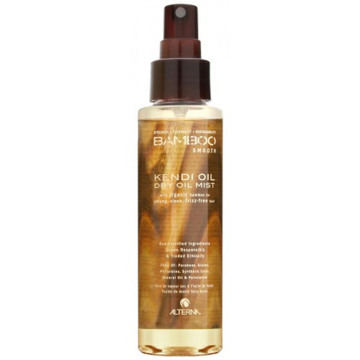 Alterna Невесомое масло-спрей для ухода за волосами Bamboo Smooth Kendi Dry Oil Mist - 125 млA8726300Масло Кенди, входящее в состав Alterna Bamboo Smooth Kendi Dry Oil Mist, помогает разгладить волосы и устранить их пушистость. Обладает термозащитой, так же используется для продления срока действия процедуры выпрямления волос. Результат: Alterna Bamboo Smooth Kendi Dry Oil Mist насыщает волосы питательными веществами и антиоксидантами. Укрепляет волосы. Благодаря технологии Color Hold обеспечивает защиту цвета волос. Предотвращает запутывание, пушистость и завивание волос. Увеличивает срок действия процесса по выпрямлению и выравниванию волос. Обладает влагостойкими свойствами. Усиливает блеск волос.