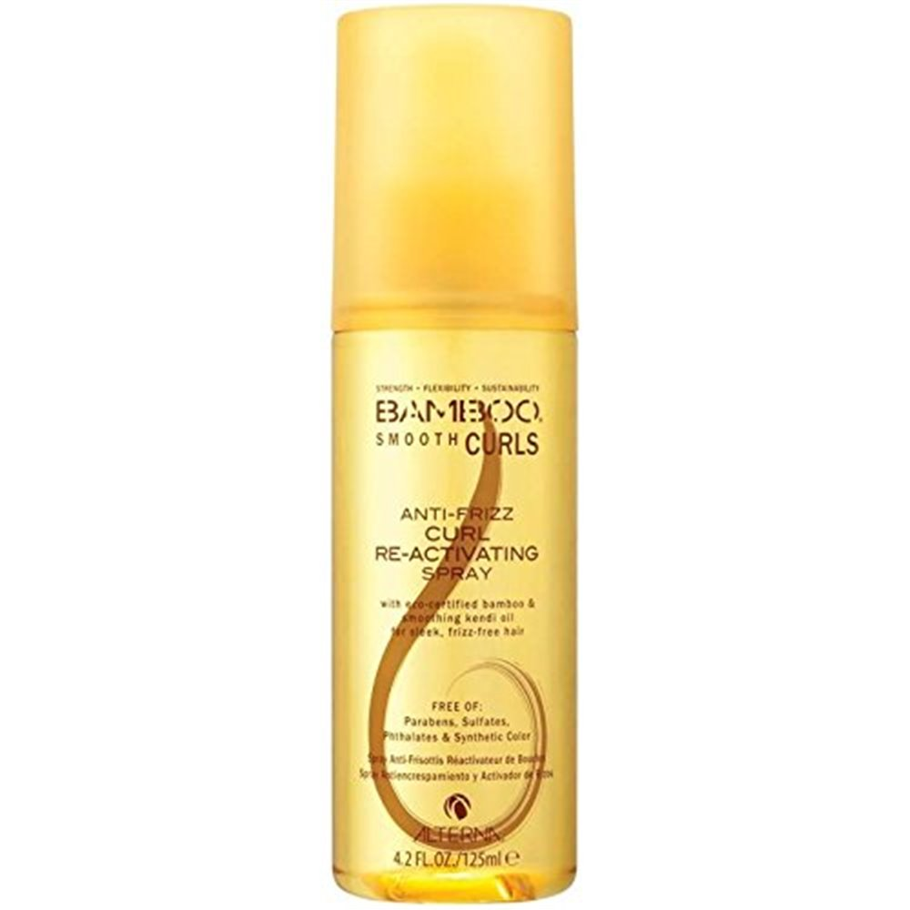 Alterna Полирующий спрей для оживления кудрей Bamboo Smooth Curls Anti-Frizz Curl Re-Activating Spray — 125 млFS-00897Его легкая кондиционирующая формула дефинирует и смягчает локоны без их утяжеления, устраняет пушистость и создает текстуру. Обеспечивает подвижную, легкую фиксацию, при этом оставляет волосы мягкими и живыми. Полирующий спрей для возрождения кудрей BAMBOO Smooth Curls Anti-Frizz Curl Re-Activating Spray: эта невесомая дымка оживляет, подчеркивает и укрощает завиток, устраняет пушистость, не утяжеляя волосы. Идеально подходит для текстурирования кудрей на второй день или для придания последних штрихов укладке перед выходом. Оставляет локоны гладкими, мягкими и послушными. Подходит обладательницам плотных, кудрявых, густых волос, которые хотят, чтобы их волосы имели красивый завиток и не пушились.Преимущества: разделяет и укрощает пушистость, текстурирует каждый завиток. Создает оживление и невесомую фиксацию. Устраняет ломкость.