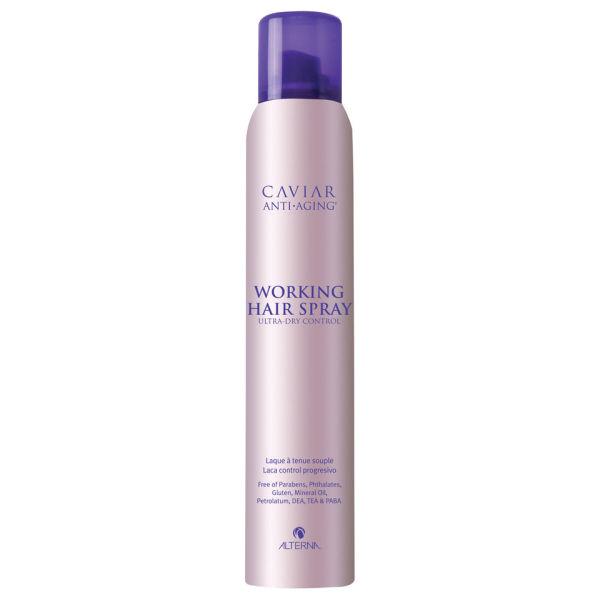 Alterna Лак подвижной фиксации Caviar Anti-Aging Working Hair Spray 211 г83Ультра сухой лак для волос с экстрактом черной икры Alterna Caviar Anti-Aging Working Hair Spray работает на клеточном уровне, увеличивая упругость и эластичность Ваших волос. Он восстанавливает оптимальный баланс увлажнения волос и делает их послушными. Аэрозольный ультра сухой лак помогает минимизировать видимые повреждения волос, произошедшие по причине воздействия солнечного излучения, окружающей среды, экологических и химических факторов. Результат: Ультра сухой лак для волос с экстрактом черной икры обладает влагостойкими свойствами, обеспечивает прогрессивный контроль над волосами и помогает создать нежную укладку для волос. Гарантирует волосам идеальную расчесываемость.