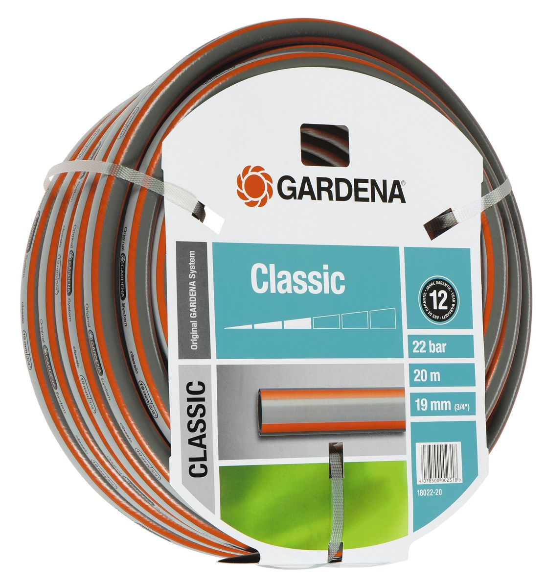 Шланг Gardena Classic, 19 мм (3/4) х 20 м шланг raco classic 3 4x25m 40306 3 4 25