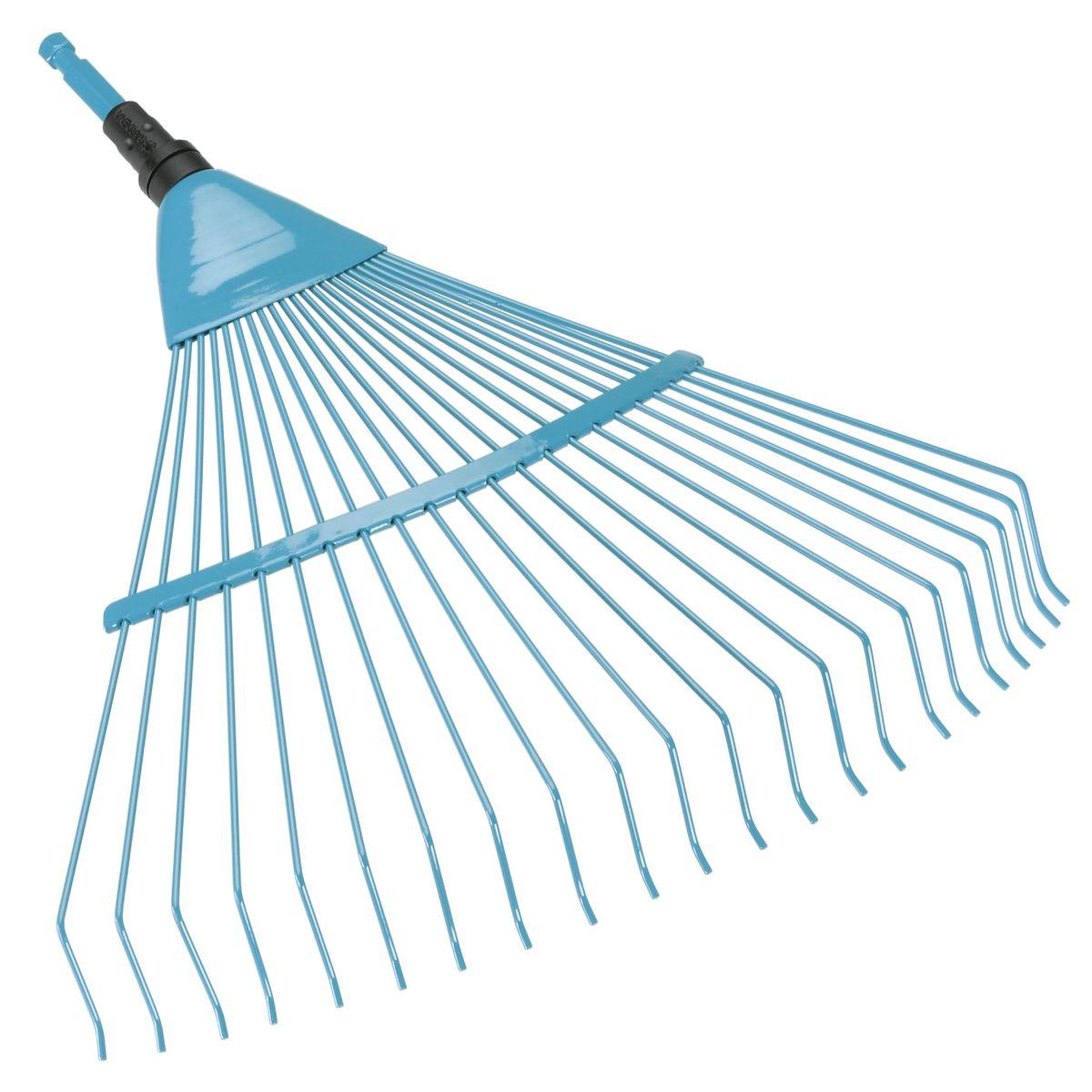 Грабли проволочные пружинящие Gardena, без ручкиC0031140Грабли проволочные пружинящие Gardena выполнены из высококачественной жесткой проволоки и высококачественной стали с покрытием из дюропласта, которое обеспечивает оптимальную защиту материала от коррозии. Грабли представляют собой идеальный инструмент для очистки и аэрации заболоченных участков газона. Прочные проволочные зубья и большая рабочая ширина обеспечивают быстрое и эффективное выполнение работы. Грабли могут использоваться с любой ручкой, однако рекомендуется использовать ручку длиной 130 см, в зависимости от роста пользователя. Рабочая ширина: 50 см.