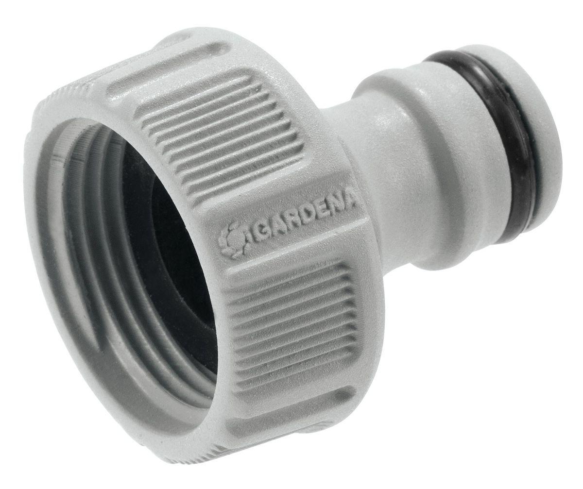 Штуцер резьбовой Gardena, 3/4А00319Штуцер резьбовой Gardena позволяет быстро и легко нарастить шланг или подключить необходимый аксессуар. Все соединения герметичны. Легко устанавливается и не требует использования инструментов. Для кранов диаметром 21 мм (G 1/2) с резьбой 26,5 мм ( G 3/4).