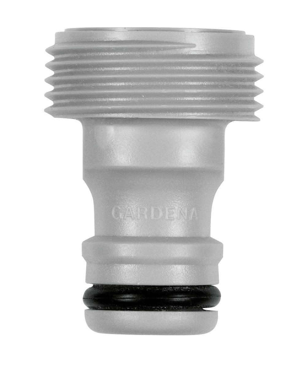 Адаптер Gardena, 3/4106-029Адаптер Gardena подходит для подключения дождевателей, не имеющих коннектора к базовой системе полива.Наружная резьба - 26,5 мм (G 3/4)