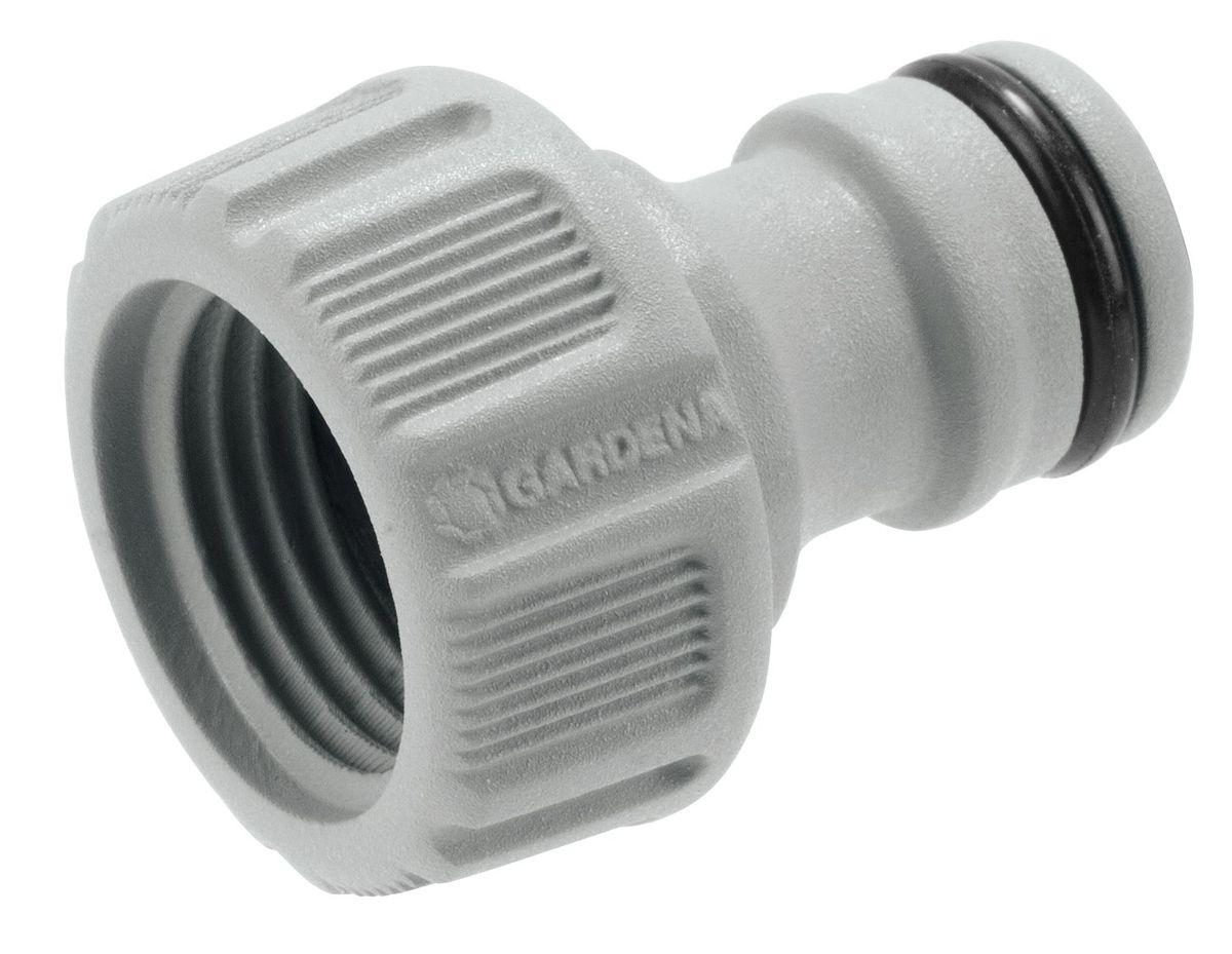 Штуцер резьбовой Gardena, 1/2106-026Штуцер резьбовой Gardena позволяет быстро и легко нарастить шланг или подключить необходимый аксессуар. Все соединения герметичны. Легко устанавливается и не требует использования инструментов. Для кранов диаметром 16,7 мм (G 3/8) с резьбой 21мм ( G 1/2).