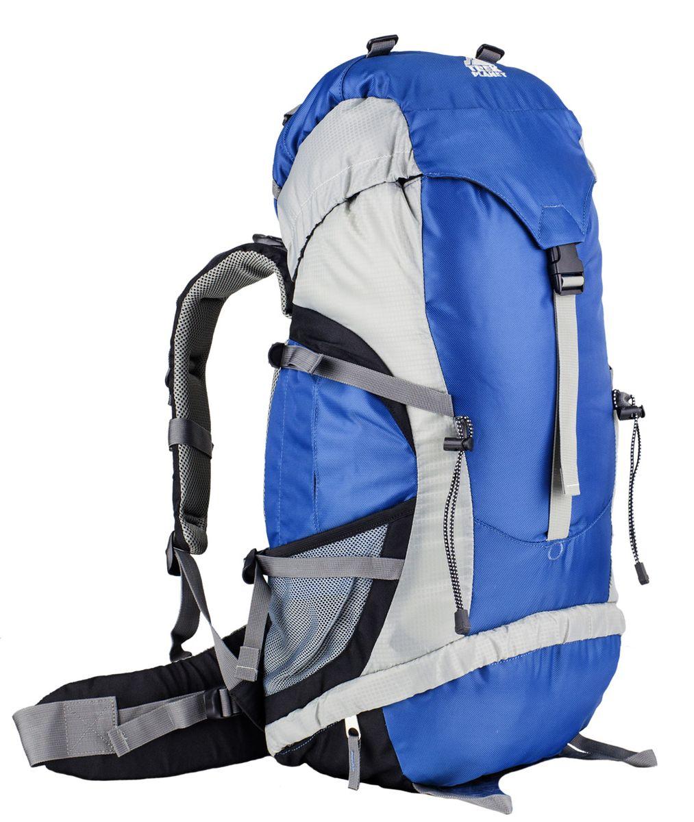 Рюкзак туристический Trek Planet Move 45, цвет: синий70554Универсальный туристический рюкзак Trek Planet Move 45 - отличный выбор для небольших походов и путешествий. Двойные боковые и вертикальная стропы позволяют превосходно отрегулировать рюкзак по нужному объему. Анатомическая вентилируемая и регулируемая спинка обеспечивает максимальный комфорт и стабилизацию рюкзака на спине. Карманы по бокам и внизу рюкзака, для часто используемых походных принадлежностей или бутылок с водой. Особенности рюкзака: - Анатомическая вентилируемая спина, - Анатомические регулируемые лямки, - Дополнительные боковые карманы на молнии, - Дополнительный вход в нижнее отделение, - Внутренний карман для документов, - Карман в верхнем клапане, - Сетчатые боковые карманы, - Многофункциональная навеска для снаряжения, - Карман на поясном ремне, - Компрессионные ремни, - Съемный чехол от дождя.
