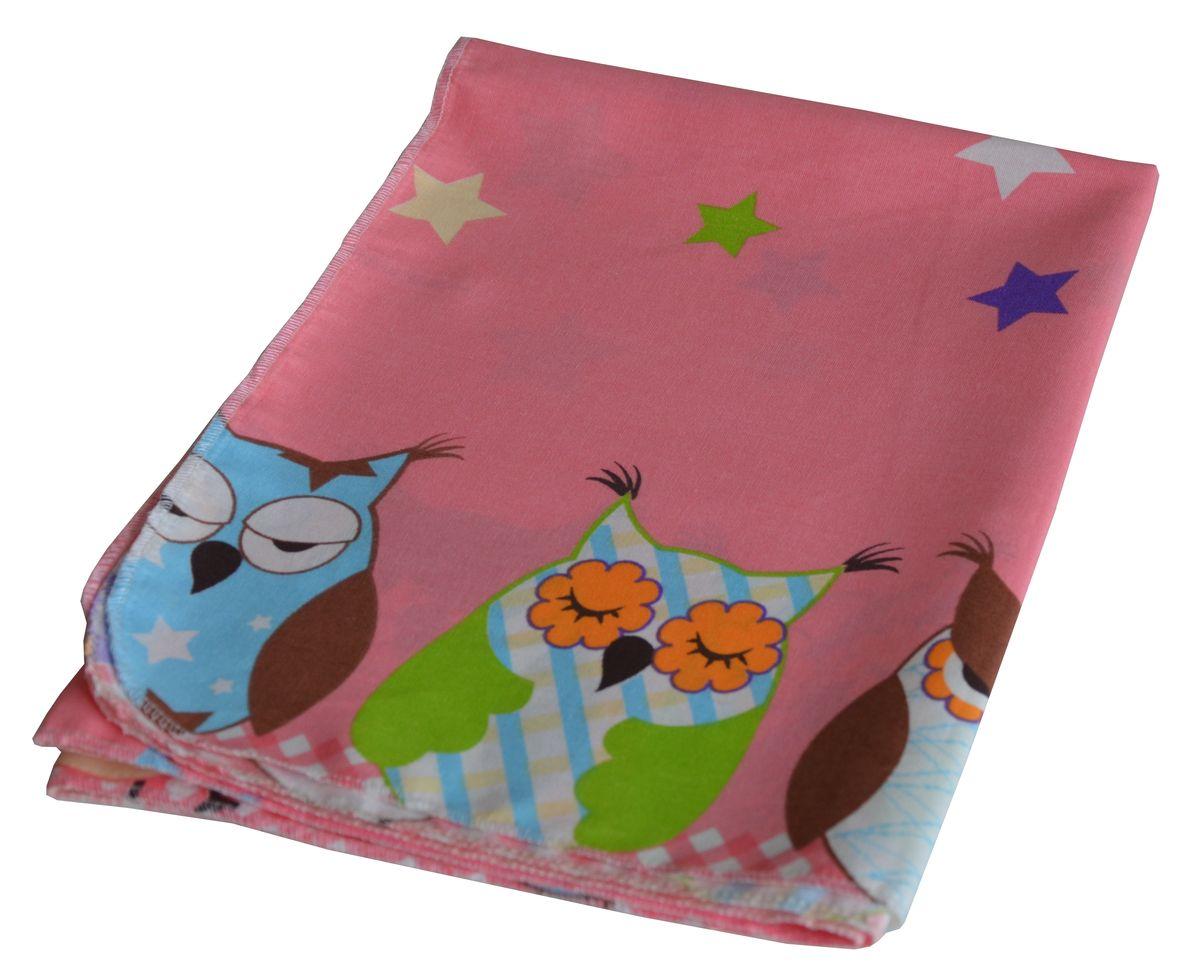 Bonne Fee Простыня детская Совы цвет розовый 70 х 100 см90тр-ПнРДетская простыня Bonne Fee Совы обязательно подойдет для кроватки вашего малыша.Изготовленная из натурального 100% хлопка, она необычайно мягкая и приятная на ощупь. Натуральный материал не раздражает даже самую нежную и чувствительную кожу ребенка, обеспечивая ему наибольший комфорт. Приятный рисунок простыни понравится малышу и привлечет его внимание.На такой простыне ваша кроха будет спать здоровым и крепким сном.Уход: ручная или машинная стирка в воде до 40°С, при стирке не использовать средства, содержащие отбеливатели, гладить при температуре до 150°С, химическая чистка не допустима, бережный режим электрической сушки.