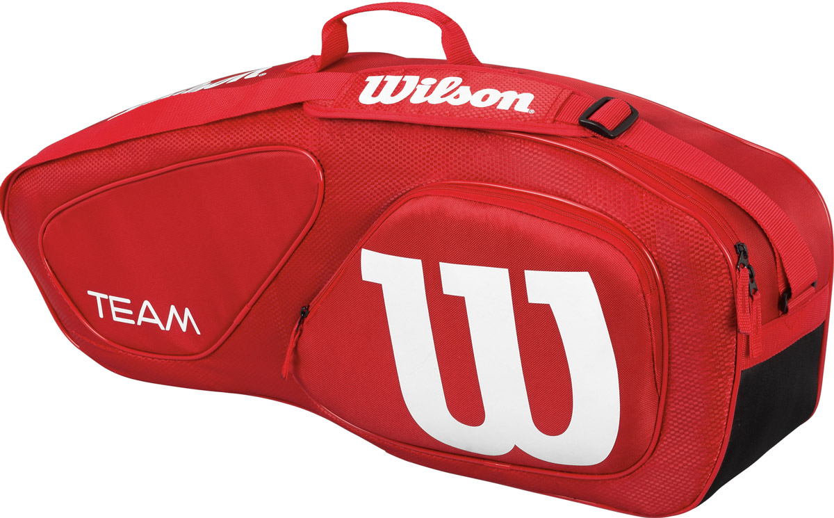 Сумка Wilson Team Ii 3Pk Bag Rd332515-2800Специализированная теннисная сумка на 3 ракетки.