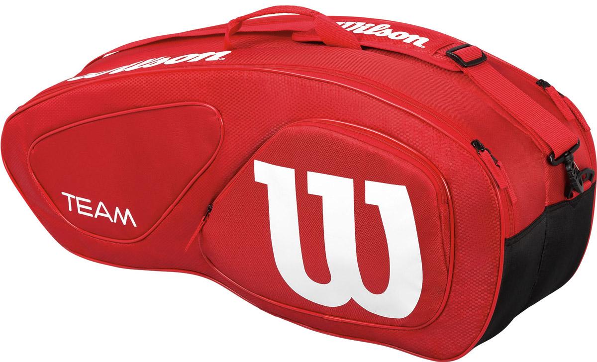 Сумка Wilson Team Ii 6Pk Bag Rd332515-2800Специализированная теннисная сумка на 6 ракеток.