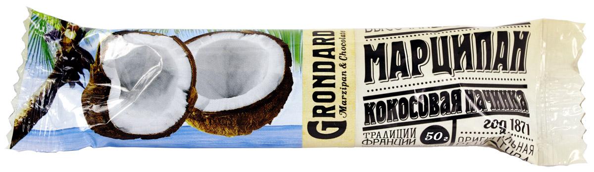 Grondard Marzipan батончик марципановый с кокосом, 50 г