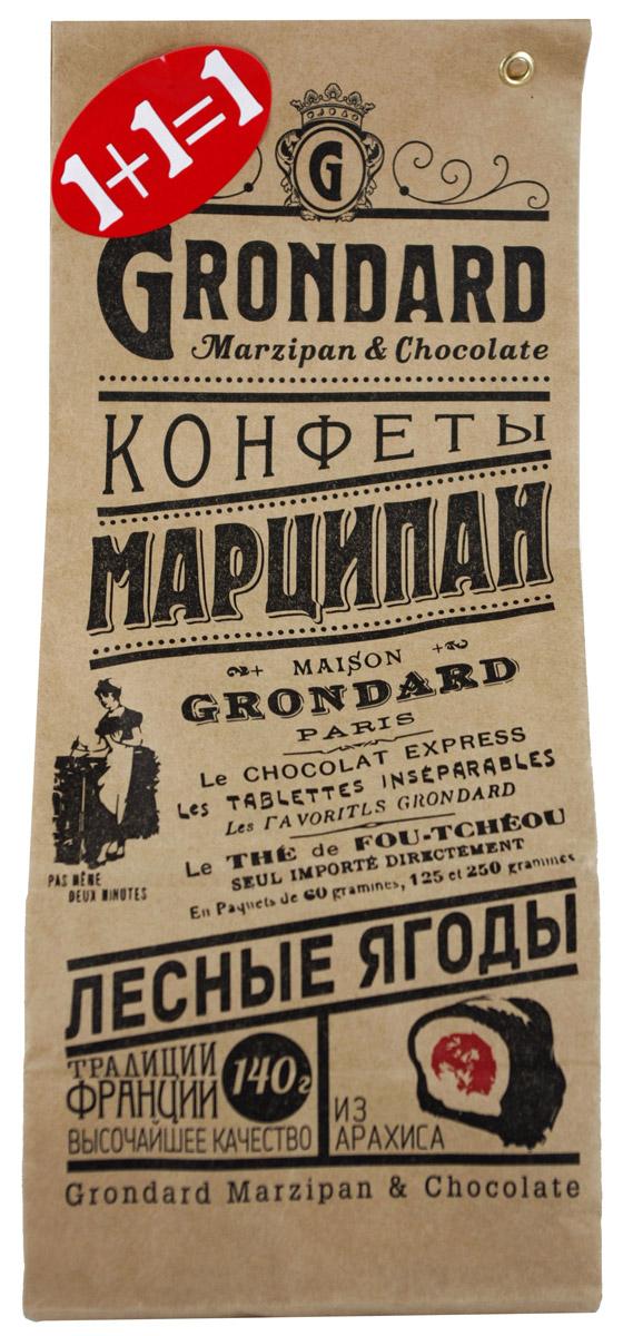 Grondard Marzipan конфеты с апельсиновой начинкой + с начинкой лесные ягоды в шоколадной глазури, 280 г901062 ЦмНежные марципановые конфеты с начинкой подарят истинное наслаждение великолепным вкусом. Отличной особенностью этих конфет является вкуснейшая марципановая масса из арахиса. Интересная рецептура дает сочетание изысканного шоколада, марципана и начинки из лесных ягод и апельсина. Этим лакомством всегда приятно побаловать себя и гостей за вечерним чаепитием. Их изысканный и оригинальный марципановый вкус поможет перенестись в атмосферу мечтаний и грез. Очаруйтесь их вкусом, оцените все грани этого изящного лакомства от компании Grondard.