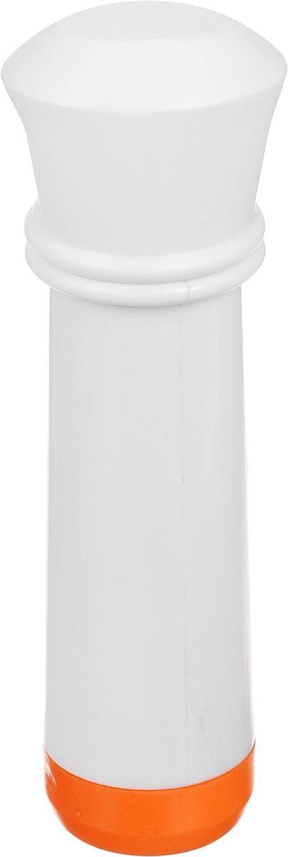 Насос вакуумный для контейнеров Microban, цвет: белый, оранжевыйMT-1951Вакуумный насос Microban, изготовленный из высококачественного пластика с прорезиненными вставками, станет не заменимым помощником на вашей кухне. С помощью такого насоса одним простым движением можно быстро выкачать воздух из контейнера. Это обеспечит герметичность и дольше сохранит продукты свежими.