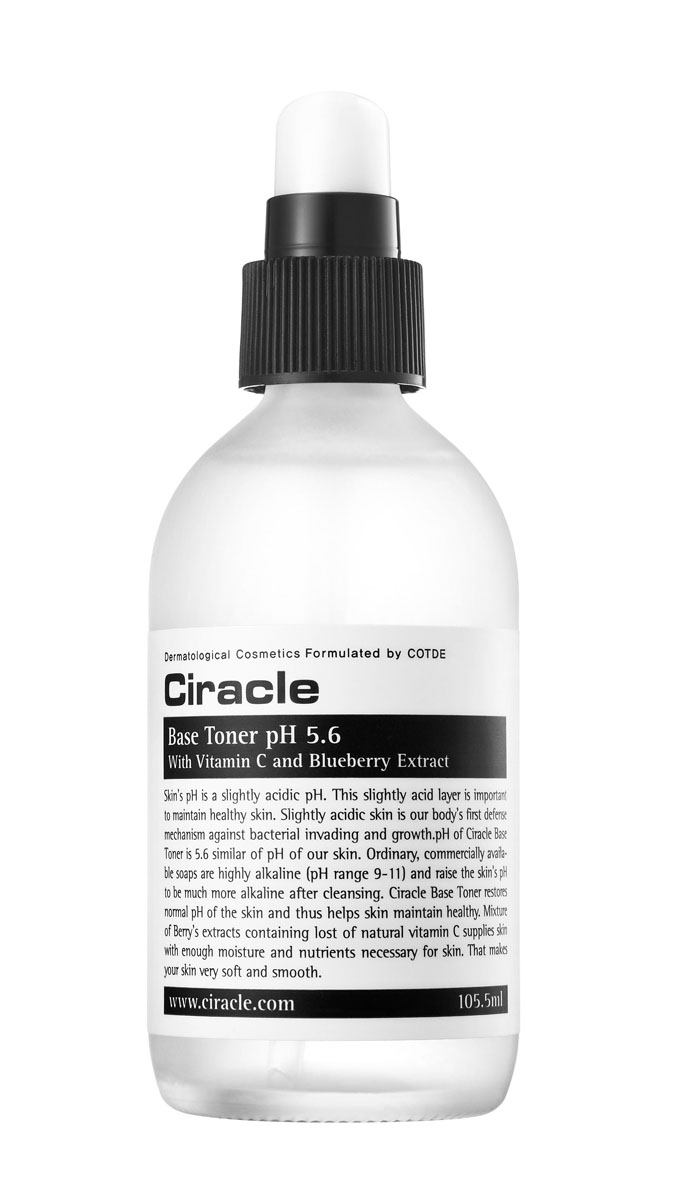Ciracle Базовый тоник pH 5.6, 105 млFS-00897Базовый тоник помогает восстановить нарушенный после умывания баланс кожи и предотвратить появление сухости, раздражения, воспалений.Экстракты ягод в составе средства тонизируют и обладают антиоксидантным эффектом. Растительные экстракты и гиалуроновая кислота увлажняют и смягчают кожу.