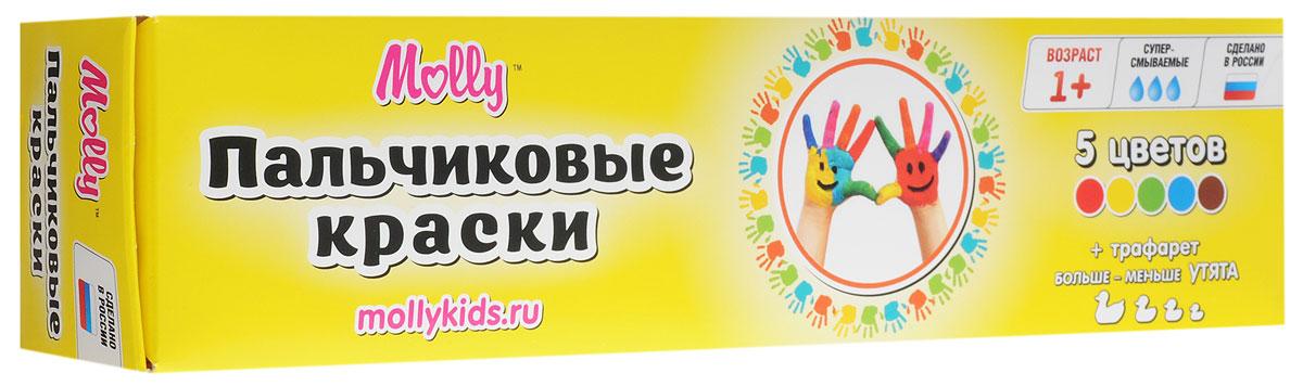 Molly Краски пальчиковые с трафаретом Утята 5 цветовFS-00103Краски пальчиковые с трафаретом Molly Утята разработаны специально для рисования пальчиками или ладошками для детей от одного года.Краски идеально подходят для раннего обучения цветам, развития тонкой моторики, тактильного восприятия. Перед применением краски рекомендуется перемешать, при необходимости разбавить теплой водой. После использования плотно закрыть баночки и вымыть руки. При попадании краски в глаза или рот - промыть водой. Краски нетоксичны, безопасны при использовании по назначению.Состав красок: пищевой краситель, целлюлозный загуститель, глицерин, мел, консервант косметический, вода питьевая.В набор входят 5 цветов - коричневый, зеленый, синий, красный, желтый и тематический трафарет для рисования.