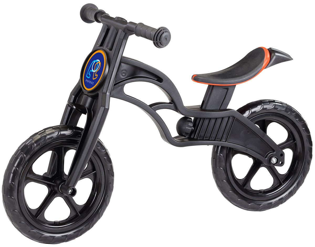 """Детский беговел Pop Bike Sprint c бескамерными колесами ОСОБЕННОСТИ: - Сверхлёгкая рама и вилка из композитного материала (прорезиненная мягкая пластмасса soft-touch). Рама изготовлена по специальной технологии, благодаря чему она прочнее аналогов на 30%. Ребёнок может сам переносить свой беговел. - Прорезиненное комфортное сиденье с лёгкой регулировкой по высоте (для детей ростом от 85см, на возраст от 2 лет). - Мягкие комфортные грипсы с защитными бар-эндами. - Переднее и заднее мини-крылья в комплекте. - Бескамерные колеса размером 12"""". - Простая и быстрая сборка. Все необходимые ключи в комплекте. - Большой выбор аксессуаров. - Удобная и компактная упаковка."""