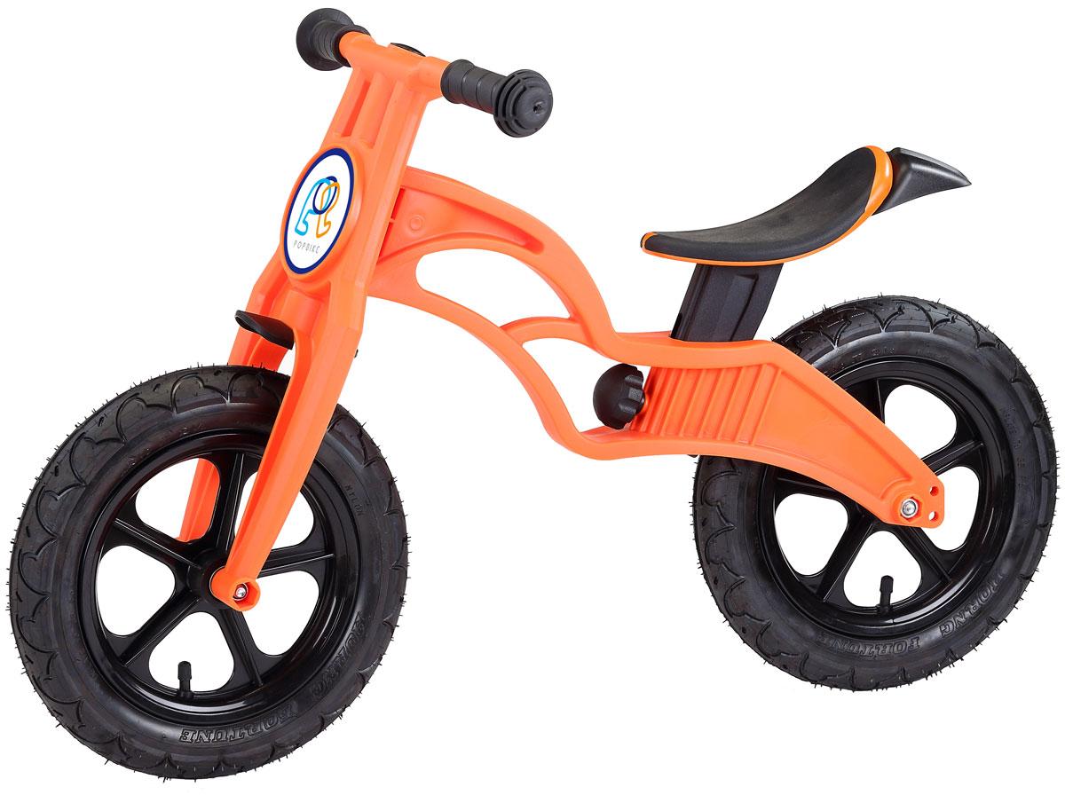 Pop Bike Беговел детский Flash с надувными колесами цвет оранжевый -  Беговелы