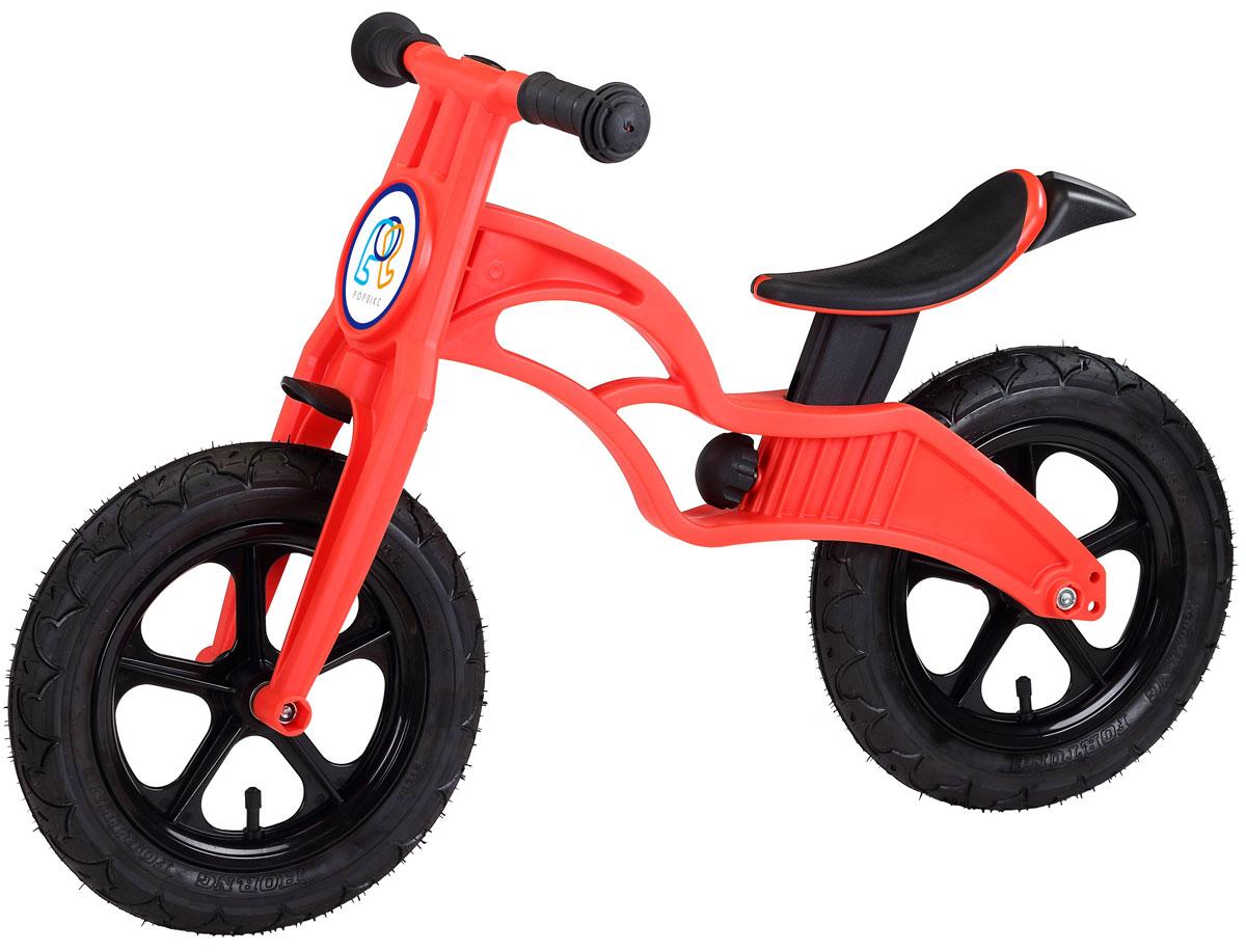 """Детский беговел Pop Bike Flash c надувными колесами ОСОБЕННОСТИ: - Сверхлёгкая рама и вилка из композитного материала (прорезиненная мягкая пластмасса soft-touch). Рама изготовлена по специальной технологии, благодаря чему она прочнее аналогов на 30%. Ребёнок может сам переносить свой беговел. - Прорезиненное комфортное сиденье с лёгкой регулировкой по высоте (для детей ростом от 85 см, на возраст от 2 лет). - Мягкие комфортные грипсы с защитными бар-эндами. - Переднее и заднее мини-крылья в комплекте. - Надувные колеса размером 12"""". - Простая и быстрая сборка. Все необходимые ключи в комплекте. - Большой выбор аксессуаров. - Удобная и компактная упаковка."""