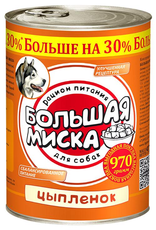 Консервы для собак Зоогурман Большая миска, с цыпленком, 970 г0120710Консервы для собак Зоогурман Большая миска - это высококачественный, сбалансированный, натуральный продукт, который содержит все необходимые компоненты, обеспечивающие организм ваших питомцев энергией, витаминами и минеральными веществам, необходимыми для здорового роста и развития.Серия мясных консервов Большая миска разработана для собак с нормальной активностью с учетом их энергетических потребностей.Состав: мясо цыпленка, растительный белок, субпродукты мясные, растительное масло, костная мука, желирующая добавка, соль, вода. Пищевая ценность 100 г продукта: сырой протеин - не менее 8,5 г; сырой жир - не более 7,5 г; углеводы - не более 3,0 г; сырая зола - не более 3,0 г; массовая доля поваренной соли - 0,5-0,7 г; костная мука - 1 г; влага - не более 82%. Минеральные вещества в 100 г продукта: общий фосфор - не более 0,8 г; кальций - не более 0,9 г.Товар сертифицирован.