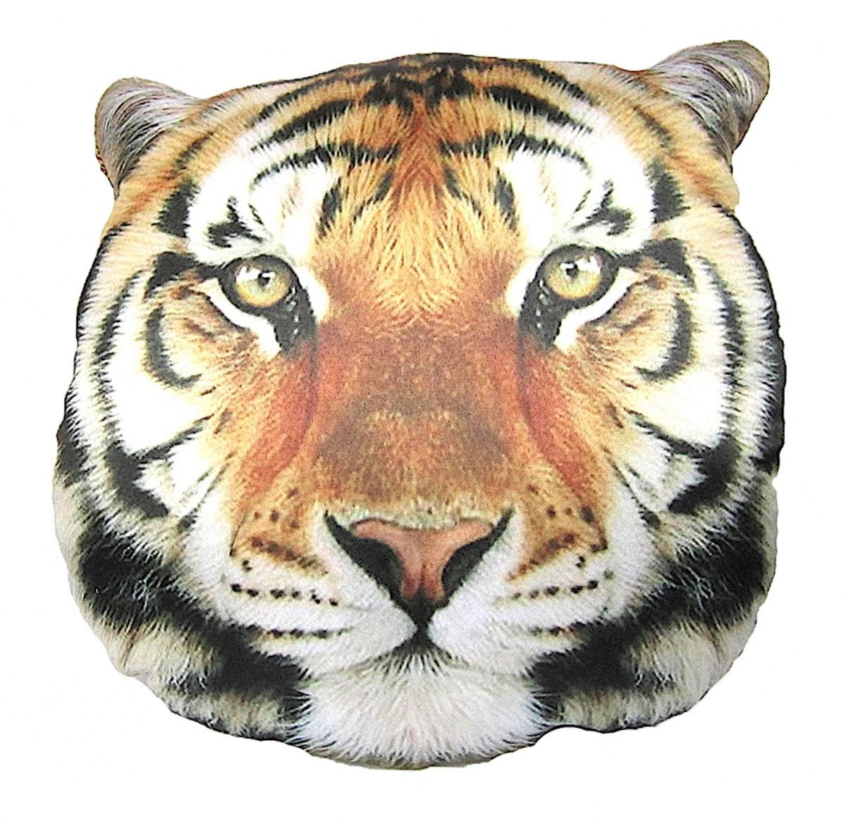 Подушка декоративная GiftnHome Тигр, 40 x 40 смS03301004Подушка декоративная GiftnHome, выполненная в виде морды тигра, прекрасно дополнит интерьер спальни или гостиной. Чехол подушки изготовлен из атласа (искусственный шелк). В качестве наполнителя используется мягкий холлофайбер. Чехол снабжен потайной застежкой-молнией, благодаря чему его легко можно снять и постирать. Красивая подушка создаст атмосферу уюта в доме и станет прекрасным элементом декора.