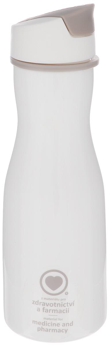 Бутылка для воды Tescoma Purity, цвет: белый, 700 млAtemi Force 3.0 2012 Black-GrayСтильная бутылка для воды Tescoma Purity, изготовленная из высококачественного пластика, оснащена съемным текстильным ремешком и крышкой с силиконовым уплотнителем, которая плотно и герметично закрывается, сохраняя свежесть и изначальную температуру напитка. Изделие прекрасно подойдет для использования в жаркую погоду: вода долго сохраняет первоначальные свойства и вкусовые качества. При необходимости в бутылку можно наливать витаминизированные напитки, фруктовые соки, чай или протеиновые коктейли.Такую бутылку можно без опаски положить в рюкзак, закрепить на поясе или велосипедной раме. Она пригодится как на тренировках, так и в походах или просто на прогулке.Бутылку разрешено кипятить и мыть в посудомоечной машине.Изделие можно использовать в холодильнике и микроволновой печи. Ремешок и крышку не рекомендуется мыть в посудомоечной машине.Диаметр горлышка бутылки: 5 см.Диаметр основания: 8 см.Высота бутылки (без учета крышки): 23 см.Длина ремешка: 11 см.