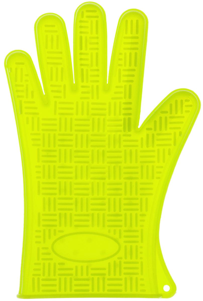 Прихватка-перчатка Mayer & Boch, силиконовая, цвет: салатовый, 27 х 18 см115510Прихватка-перчатка Mayer & Boch изготовлена из прочного цветного силикона. Она способна выдерживатьтемпературу от -40°C до +220°С. Эластична, износостойка, влагонепроницаема, легко моется, удобно и прочно сидит на руке. С помощью такой прихватки ваши руки будут защищены от ожогов, когда вы будете ставить в печь или доставать из нее выпечку.Можно мыть в посудомоечной машине.
