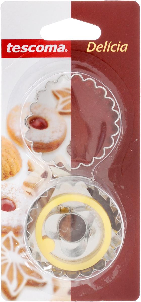 Пресс-форма для печенья Tescoma Сердечко, диаметр 5 см54 009312Пресс-форма Tescoma Сердечко для печенья выполнена из высококачественного металла и пластика. С помощью пресс-формы вырежьте из теста форму, перенесите на лист и нажатием пружины выдавите тесто.Не рекомендуется мыть в посудомоечной машине. Диаметр формы: 5 см.