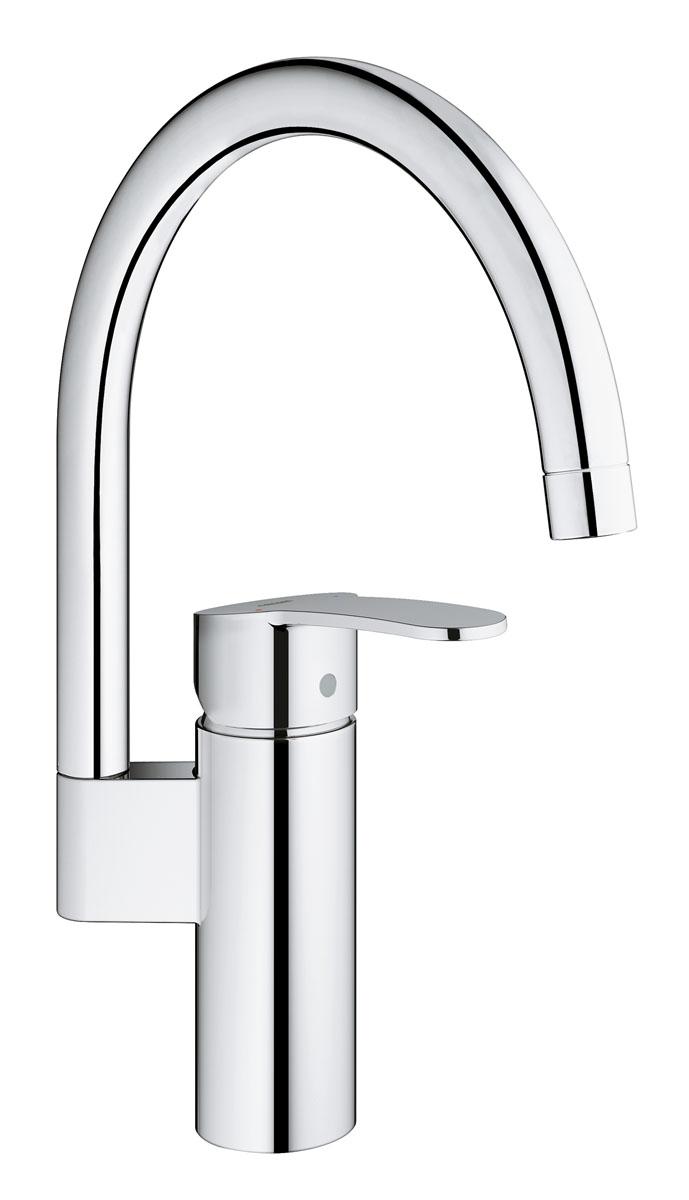 Смеситель однорычажный для мойки Grohe Cosmopolitan. DN 153520Уникальное дизайнерское решение для ванной комнаты представляют собой смеситель Grohe Cosmopolitan. DN 15 с рычагами необычной формы. В конструкции сочетаются простые изгибы и обтекаемые формы. Его строгая красота подчеркивается ярким блеском хромированного покрытия Grohe StarLight, отталкивающего грязь и устойчивого к истиранию. Технология Grohe SilkMove позволяет управлять рычагом, регулируя напор и температуру воды, одним лишь кончиком пальца. И все это – при непревзойденном соотношении цены и рабочих характеристик.Кухонный смеситель Grohe Cosmopolitan. DN 15 подвергается основательным испытаниям на долговечность, имитирующим условия многолетней ежедневной эксплуатации. Онимеет один вид струи – нормальную, и излив с ограничением поворота 110 градусов.